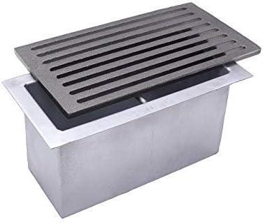Grille en fonte 30 x 16 cm pour chemin/ée avec tiroir ramasse-cendres.