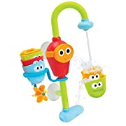 Baby Bath Toy - Flow N Fill Spout - 3 Stackable Cups and Waterfall Spout
