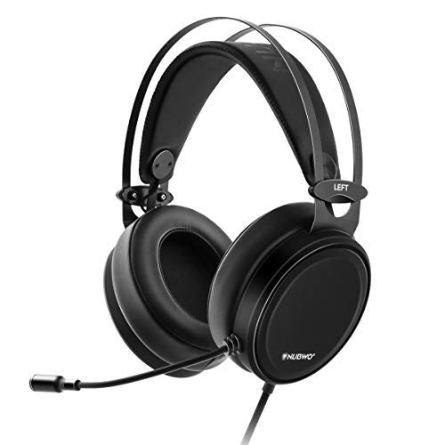 Leatherette Cross - LUPSAN Gaming Headset for Xbox one PS4 Controller, PC Mic Stereo Gamer Headphones with Microphone Computer Nintendo Switch Playstation 4 PRO Xbox 1 x Games