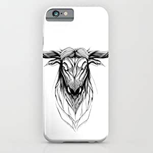Deer Bull (black Stroke Version For T-shirts) Case For Iphone 4/4S Cover Case by Rafapasta