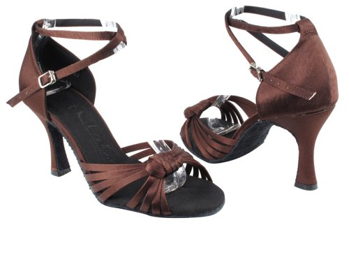 Very Fine Shoes Ladies Latin, Rhythm & Salsa Salsera Series SERA3780 (3 COLORS) 3 Coffee Brown
