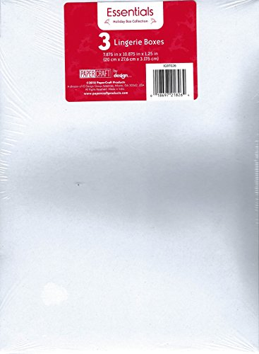 Paper Craft Essentials Lingerie Gift Box, White, 3-Pack