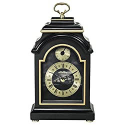Seth Thomas Bounty Black Finish Wood Case with Gold Tone and Ship Dial Carriage Mantel Clock