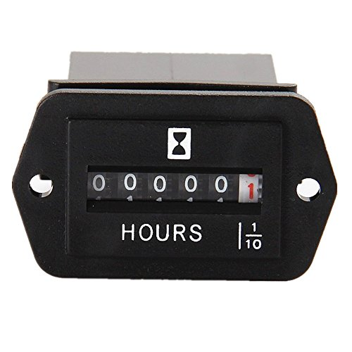 Quartz Hour Meter - Searon DC 12V 24V 36V 48V 60V 72V Mechanical Engine Hour Meter Generator Hourmeter 6-80 Volt