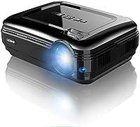 LESHP Proiettore LCD - 3300 Lumen, 1280*800, Contrasto 3000:1 -Video Proiettore Multimediale Home Theater con TV/AV/VGA/USB/HDMI/Y.Pb.Pr per Home Cinema