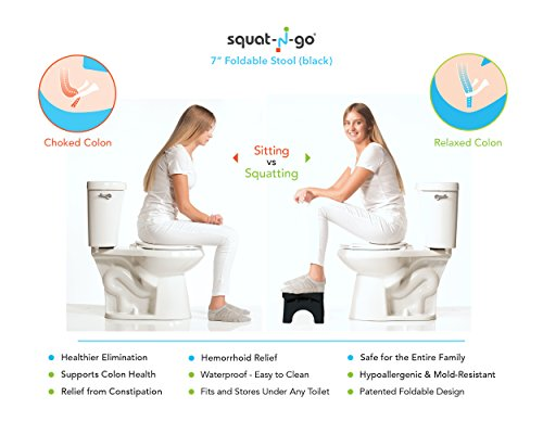 Squat-N-Go-7-Folding-Squatting-Stool-The-Only-Foldable-Toilet-Stool-Convenient-and-Compact--Great-for-Travel-Fits-all-toilets-Folds-for-easy-storage-Use-in-any-bathroom