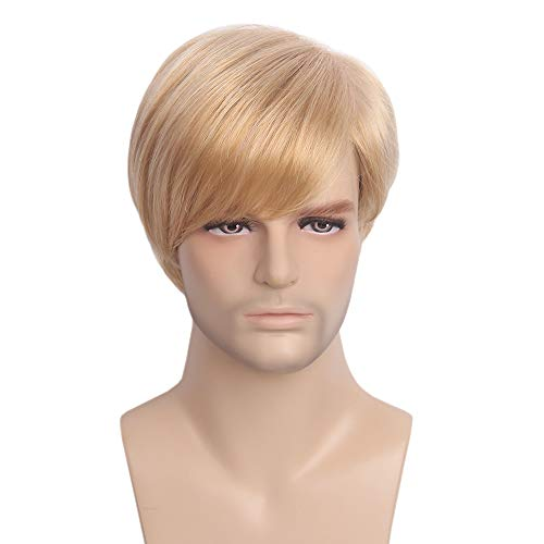 STfantasy Mens Wig Ombre Blonde Short Straight Synthetic