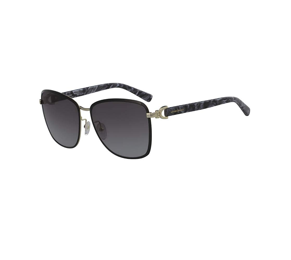 b87e442039d Amazon.com: Longchamp Metal Frame Grey Lens Ladies Sunglasses ...