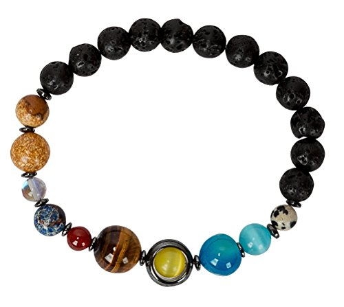 SPUNKYsoul Solar System Earth Planets Bracelet Universe Galaxy His, Men, Him Man Jewelry Gifts Space -