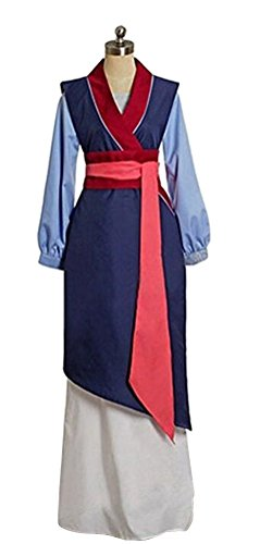 COSKING Chinese Heroine Costume for Women, Halloween Girls Princess Cosplay Outfit (Adult Women-Medium, Blue) -