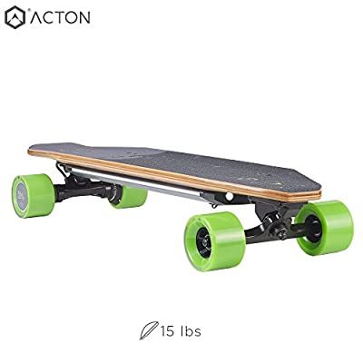ACTON BLINK S2 | Back to School Sale | Powerful Dual Hub Motors Electric Skateboard for Commute | 14 Mile Range | 18 MPH Top Speed | LED Lights | Bluetooth Remote Control Included from ACTON
