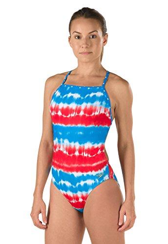 스피도 Speedo Womens Printed One Back Americana One Piece Swimsuit