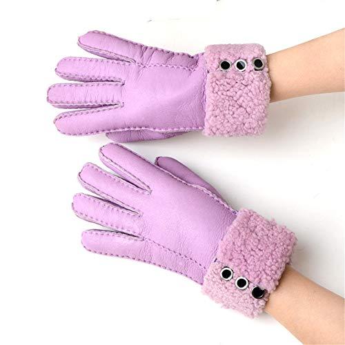 悲鳴高齢者有効化Ryamag レディース 冬用 暖かい 羊毛 ファー 手袋