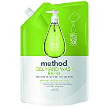 Method Gel Hand Wash Refill, Green Tea and Aloe, 34 Ounce (Pack of 6)