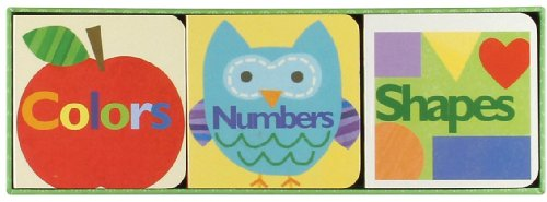 Gibby & Libby Set of 3 Little Chunky Books, Color Shapes Numbers by C.R. Gibson
