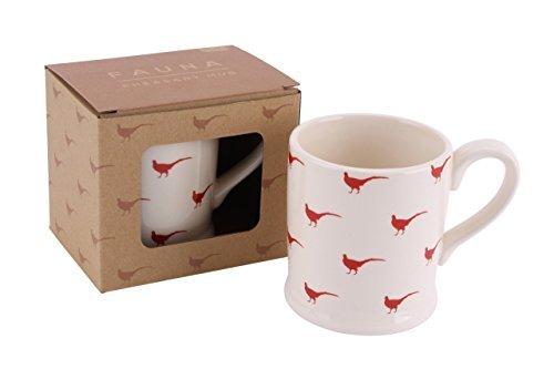 Pheasant Design Ceramic Mug Fauna Wildlife Range in Gift Box