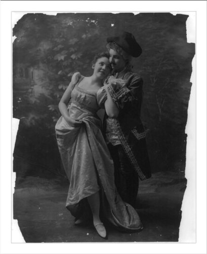 [Historic Print (L): [Couple in dance costumes]] (Couples Dance Costumes)