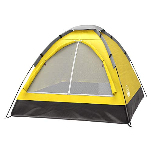 2-Person Dome Tent- Rain Fly & Carry Bag- Easy Set Up-Great for Camping, Backpacking, Hiking & Outdoor Music Festivals by Wakeman Outdoors - Spring Tent Person
