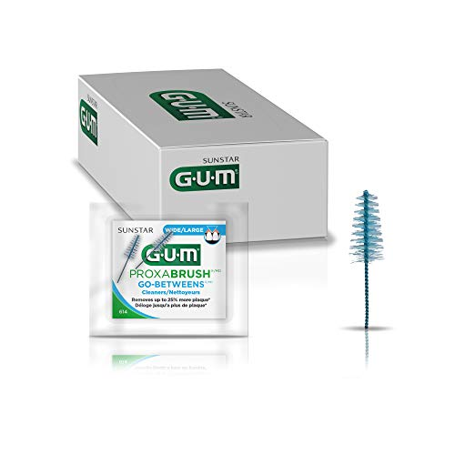 GUM – 614PAZ Proxabrush Go-Betweens Wide Interdental Brush Refills, Item 614 Professional Samples, 2 Refills per Pack…