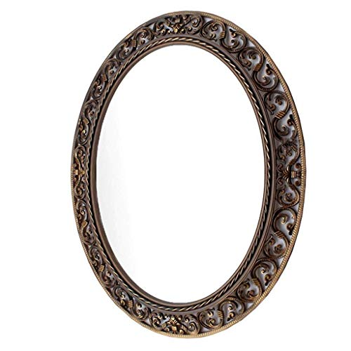 - Bathroom Wall Mirror,Oval Patterned Vanity Mirror Bathroom, European Pastoral Waterproof Wall Hanging Vanity Mirror Wash, Make Up Mirror (Size : #3)
