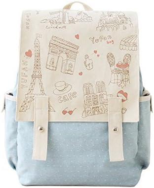 Paris Style Design Canvas Satchel