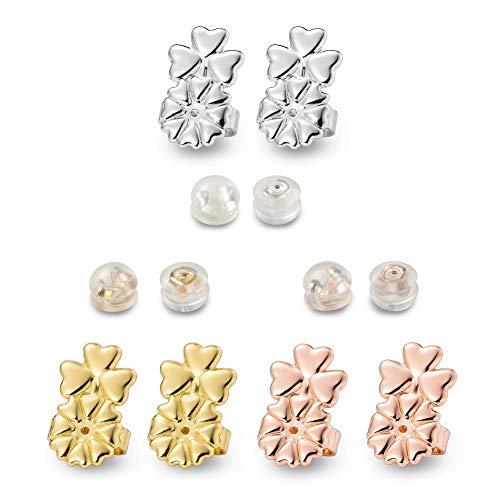 Earring Backs - 6 Pairs Magic Backs for Earrings, Adjustable Earring Backs Secure & Earring Lifters