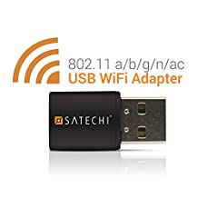 Satechi Wireless Mini Dual Band Wi-Fi USB Mini Adapter IEEE 802.11 a/b/g/n/ac Supports Windows XP/Vista/7/8/8.1