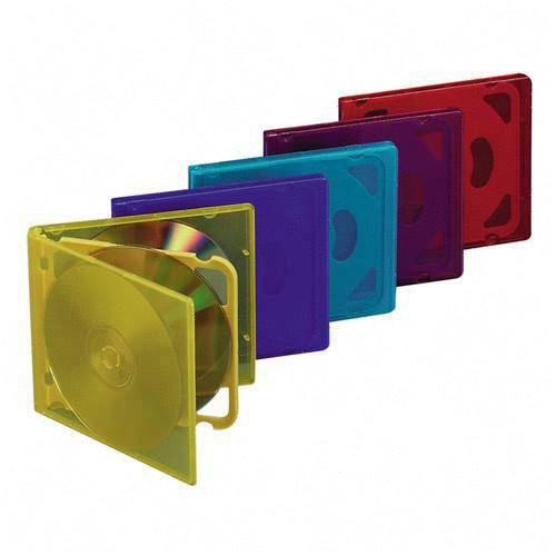 Compucessory 26100 CD/DVD Storage Holders, 4 Capacity, Assorted Colors (CCS26100) Category: Jewel Cases, Sleeves and Pockets ()