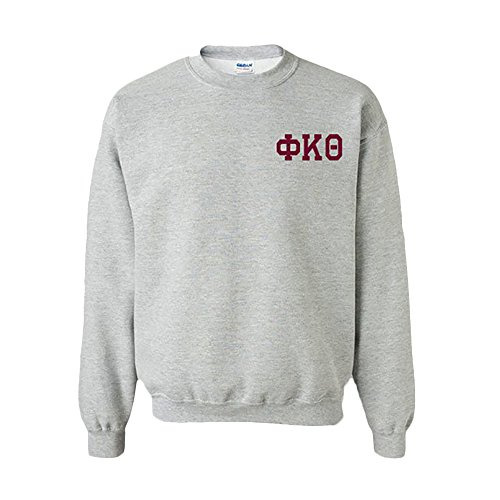 Greekgear Phi Kappa Theta World Famous Crest Crewneck Sweatshirt 2X-Large Light ()