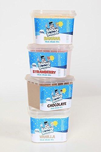 Snowyshakes Polvo Grueso de 4 Sabores * No se necesita agregar helado, tan solo mezcle