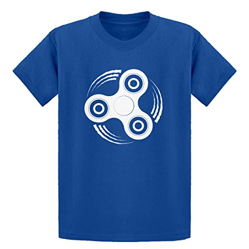 - Indica Plateau Youth Fidget Spinner X-Large Royal Blue Kids T-Shirt