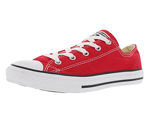 Converse unisex-child Chuck Taylor All Star  Low Top Sneaker, red, 1 M US Little Kid (Youth Chuck Shoes Taylor)