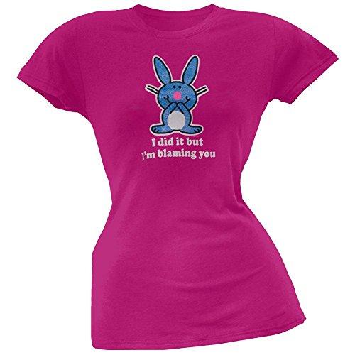 Happy Bunny - Blaming You Juniors T-Shirt - Large
