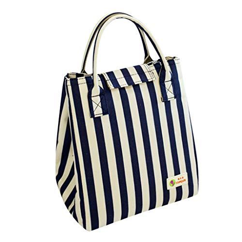 Mbtaua Insulation Bag Waterproof Lunch Bag Oxford Striped Cold Insulation Bag Aluminum (Fabric Woven Aluminum)
