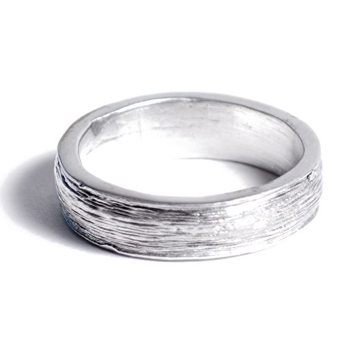 Ten Year Anniversary Tin Ring for Men - Inscribed with Ten Years, Free Reszie (8.5)