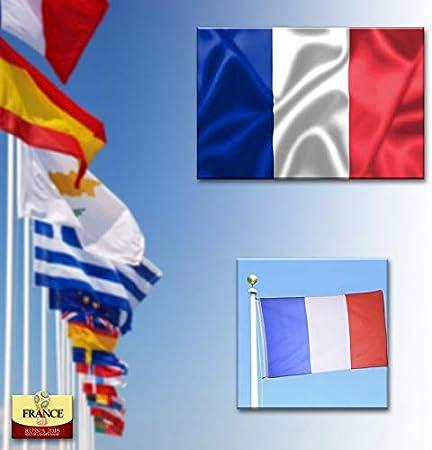 Adatech Bandera DE Francia 150X90 CM Bandera Francesa Adaptada para MASTIL Poliester: Amazon.es: Deportes y aire libre