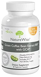 NatureWise Green Coffee Bean Extract 800 with GCA Natural Weight Loss Supplement (120--Capsules) by Nature Wise