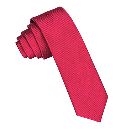 Barry.Wang Solid Color Ties Slim Woven Necktie 2.36' Casual Tie