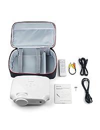 Crenova - Proyector de vídeo multimedia con pantalla de 200 pulgadas, 3200 lux, lámpara LED de 50.000 horas, funciona con PC, Fire Stick, HDMI, PS4, TV Box, VGA, SD, AV, USB