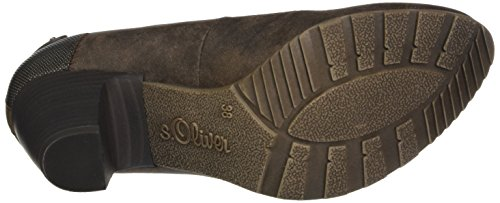 s.Oliver Women's 22404 Closed-Toe Pumps Brown (Mocca) x2rzJAf