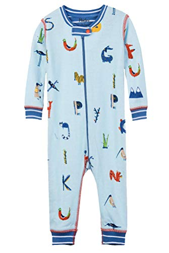 Clothes Baby Alphabet (Hatley Baby Boys Organic Cotton Sleepers, Alphabet Animals, 6-9 Months)