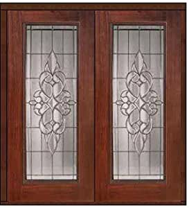 Prehung Exterior Double Door 80 Fiberglass Courtlandt Full Lite 57 66 Tools Home