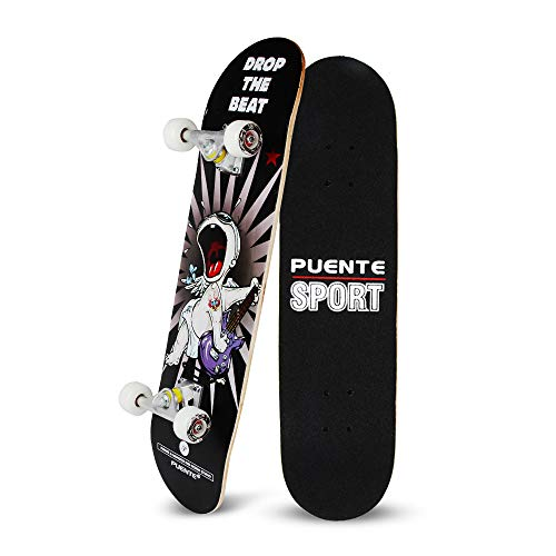 YF YOUFU Complete Skateboards, 31 inch Pro Skateboard for Boys/Girls/Youth/Adults, Tricks Skate Board for Beginners…