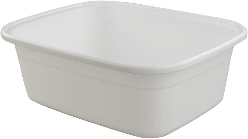 Ordate Blanco Bandejas Cubeta Cubetas Barreño Barreños de Plastico Grande, Rectangular, 1 Paquete