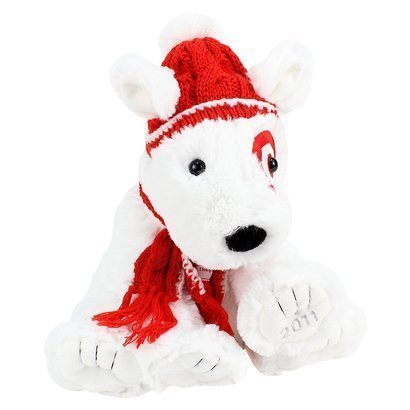 Target Limited Edition Holiday Bullseye Dog Plush St Judes