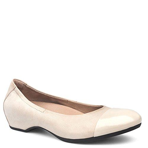 Dansko Women's Lisanne Flat Ivory Nappa Size 36 EU (5.5-6 M US Women)