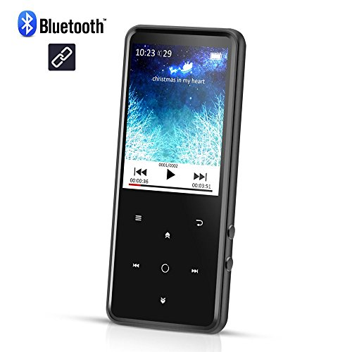 MP3 Player with 2.4 Inch TFT Color Screen, 8GB Lossless Sound Music Player with FM Radio Voice Recorder, Touch Button with Backlight Supports Up to 128GB, Black(C2) (2.4 Inch Tft Display)