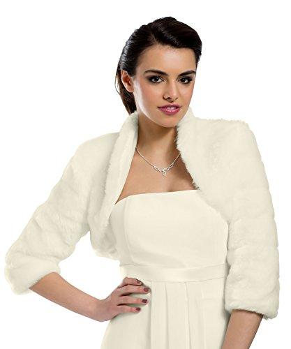 mgt-shop Shop Mujer Novia Bolero Bolero novia Chaqueta Cape novia estola AZ0 ivory/creme