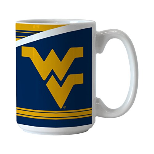NCAA West Virginia Mountaineers Split Mug, 15-ounce
