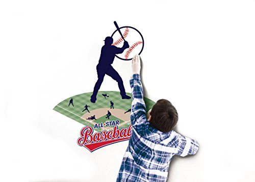 In My Room Wild Walls Baseball Star Wall Decal Light & Sound Show Room Décor Synchronized Christmas Light Show Kit